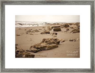 Rocky Shore 2 Framed Print by Amanda Barcon