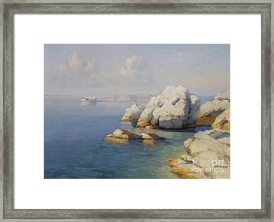 Rocky Shore Framed Print by Celestial Images