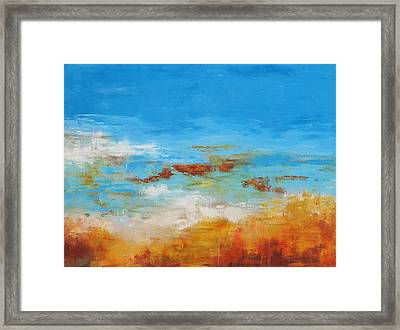 Rocky Shore Framed Print by Barrett Edwards