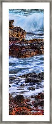 Rocky Shore Left Framed Print by Kelley King
