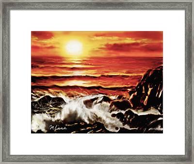 Rocky Shore Framed Print by Marcos Lara