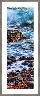 Rocky Shore Right Framed Print by Kelley King