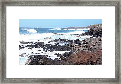 Rocky Shore Framed Print by Sheila Byers