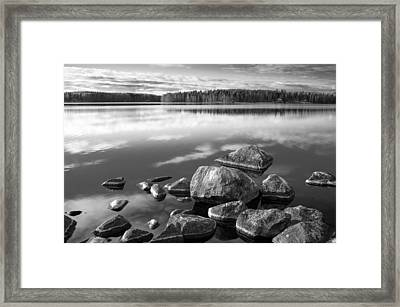 Rocky Shore Framed Print by Teemu Tretjakov