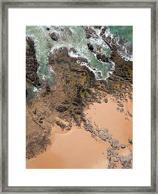 Rocky Shoreline Abstract Cape Woolamai Framed Print by Rob Huntley
