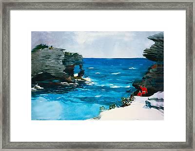Rocky Shores Bermuda Framed Print