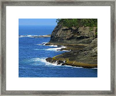 Framed Print featuring the photograph Rocky Shores by Tikvah's Hope