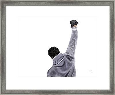 Rocky Snow Framed Print