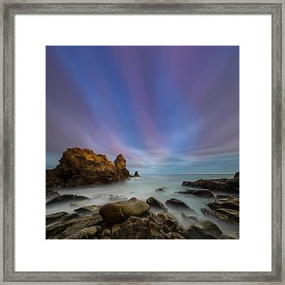 Rocky Southern California Beach 2 Framed Print by Larry Marshall