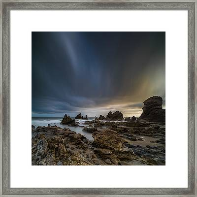 Rocky Southern California Beach 3 Framed Print by Larry Marshall