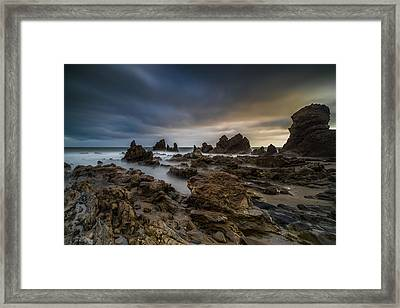 Rocky Southern California Beach 4 Framed Print by Larry Marshall