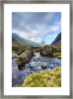 Rocky Stream  Framed Print by Ian Mitchell