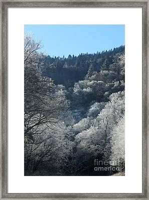 Rocky Top Winter Framed Print