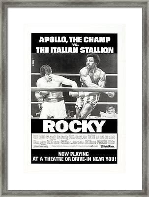 Rocky, Us Poster, Sylvester Stallone Framed Print