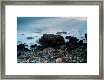 Rocky Water Framed Print by Allan Johnson