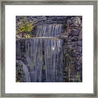 Rocky Waterfall Framed Print by Michael Waters
