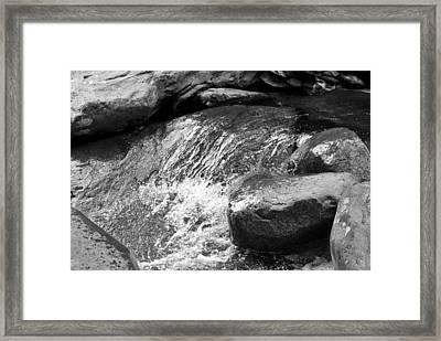Rocky Waters Bw Framed Print by Christi Kraft