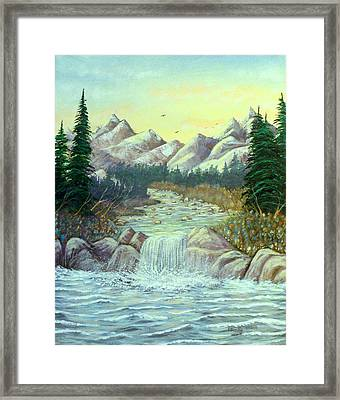 Rocky Waters Framed Print by David Bentley