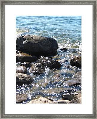 Rocky Waters Framed Print by Margaret McDermott