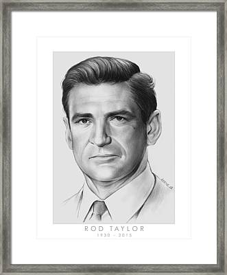 Rod Taylor Framed Print by Greg Joens