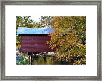 Roddy Road Covered Bridge Framed Print by Cathy Shiflett