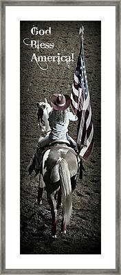 Rodeo America - God Bless America Framed Print