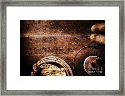 Rodeo Background Framed Print