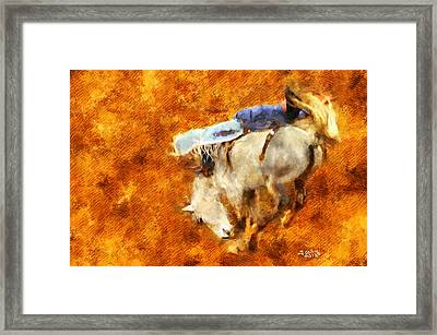 Eight-second Ride Framed Print