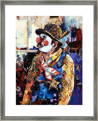 Rodeo Clown Framed Print