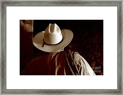 Rodeo Cowboy Framed Print