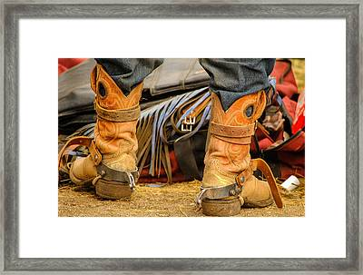 Rodeo Cowboy Tools Of The Trade Framed Print by Miki  Finn