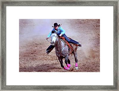 Framed Print featuring the photograph Rodeo Cowgirl by Barbara Manis
