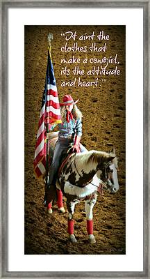 Rodeo Cowgirl Framed Print by Stephen Stookey