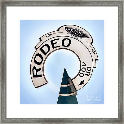 Rodeo Drive Sign Circagraph Framed Print by Az Jackson