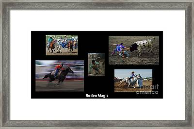 Rodeo Magic With Caption Framed Print by Bob Christopher