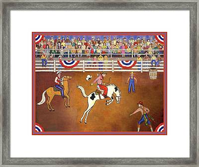 Rodeo One Framed Print by Linda Mears