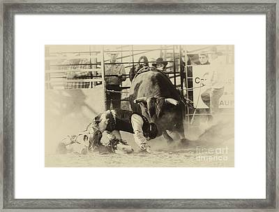 Rodeo Prepared To Be Punished Framed Print by Bob Christopher