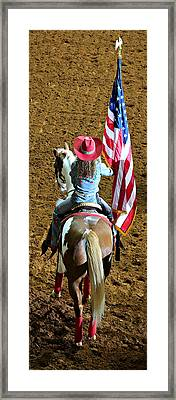 Rodeo Salute Framed Print by Stephen Stookey