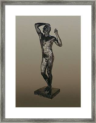 Rodin, Auguste 1840-1917. The Age Framed Print by Everett