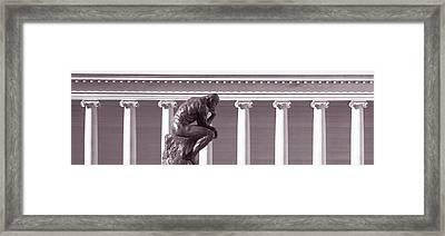 Rodin Sculpture, San Francisco Framed Print by Panoramic Images