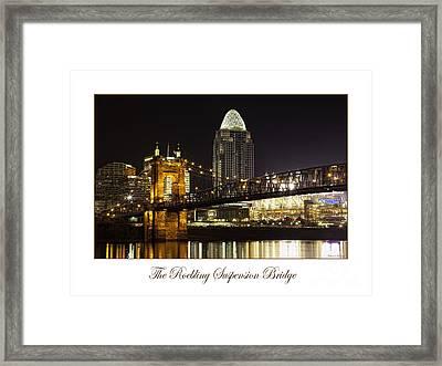 Roebling Suspension Bridge Framed Print