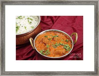 Rogan Josh In Kadai Bowl Framed Print by Paul Cowan