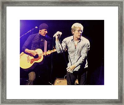 Roger Daltrey And The Who Framed Print