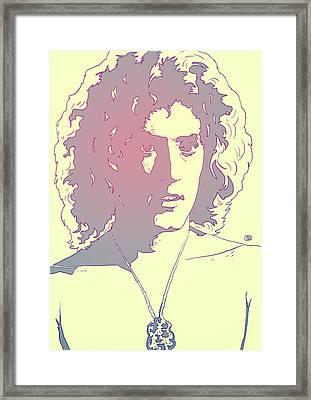 Roger Daltrey Framed Print by Giuseppe Cristiano