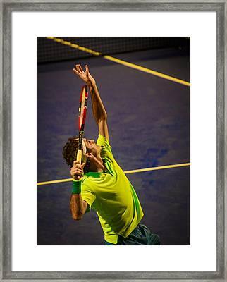 Roger Federer Framed Print by Bill Cubitt