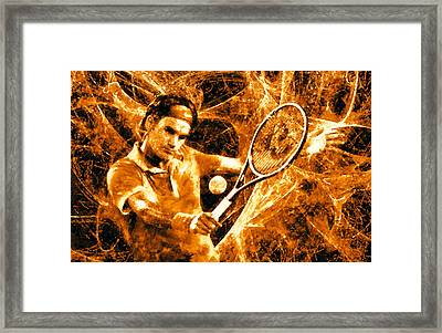 Roger Federer Clay Framed Print by RochVanh
