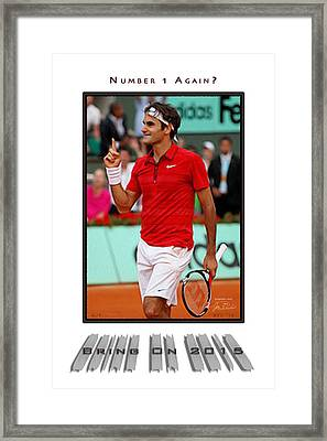 Roger Federer Number One In 2015 Framed Print by Joe Paradis