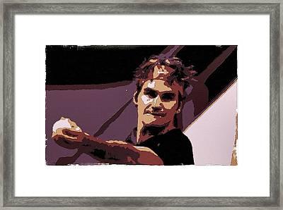 Roger Federer Poster Art Framed Print by Florian Rodarte