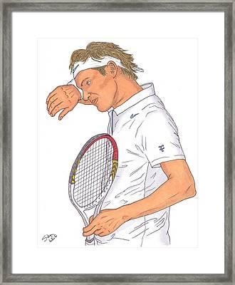 Roger Federer Framed Print by Steven White