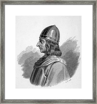 Roger I, (ruggiero) Guiscard  Norman Framed Print by Mary Evans Picture Library